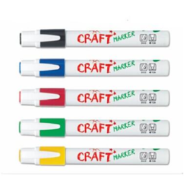 amos马克笔安全无毒5色水彩笔 玻璃橱窗笔 易清洗黑白板