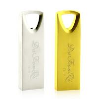 DAFONQI(达芬奇)D19U盘USB2.0 投标标书金属金色小容量迷你个性系统优盘8g企业定制闪存盘招投标标书金属金色小容量高速USB3.0迷你个性优盘 简装