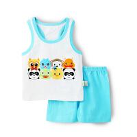 (断码清仓 59cm)歌歌宝贝 婴幼儿夏季新款套装 婴儿背心短裤套装 背心印花套装