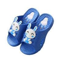 木儿家居 儿童拖鞋夏季女宝宝可爱卡通家居软底儿童浴室防滑塑料小孩拖鞋  小白兔