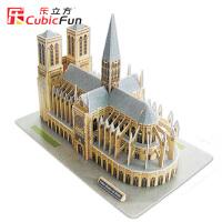 乐立方立体拼图3D建筑纸模型 巴黎圣母院 创意礼品智力玩具MC054