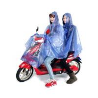 电动车雨衣   摩托车双人 雨披头盔式面罩 自行车单人 雨披
