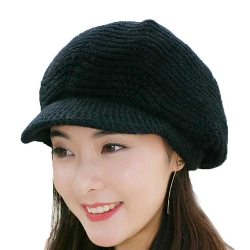 冬季女毛线帽 八角帽 帽子 针织帽 保暖帽 毛线帽
