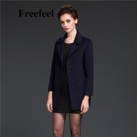 Freefeel2017新款春装羊绒大衣欧美风中长款时尚女装毛呢外套1692