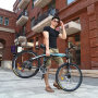 【新品上市】耐嘛27速自行车 双碟刹26寸折叠山地车 途胜