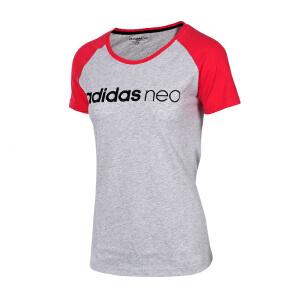 Adidas阿迪达斯 2017夏季新款女子NEO运动休闲圆领短袖T恤 BQ0315/BQ0313/BK6931