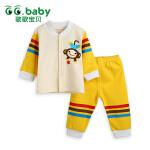 歌歌宝贝 春秋新款宝宝套装 婴幼儿对门套装 宝宝贴身套装 立领对门条纹套装