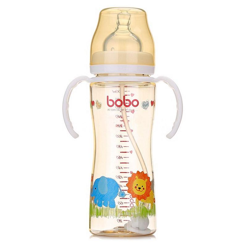 【当当自营】乐儿宝(bobo) 自动PPSU宽口径奶瓶 十字孔变流量300ml BP628B-W