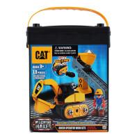 [当当自营]CAT 卡特 建筑拼装系列 挖掘机初级操作员(中号桶装)80913