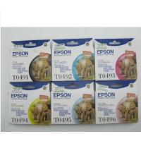 原装 爱普生/EPSON T0491 黑色墨盒 T0492 青色 T0493 洋红色 T0494 黄色 T0495 浅青色 T0496 浅洋红色 爱普生/EPSON R210 爱普生/EPSON  R230  爱普生/EPSON R310 R350 RX510 RX630 RX650 打印机墨盒