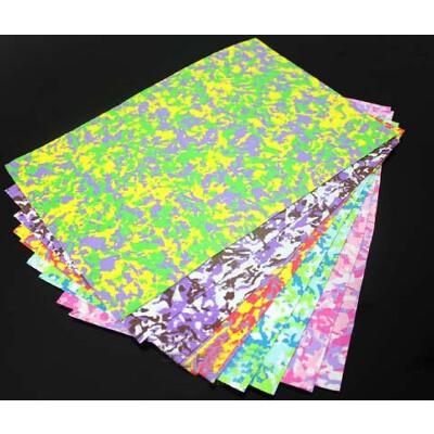 a4 迷彩海绵纸 1mm彩色泡沫纸 diy橡塑手工折纸 剪纸