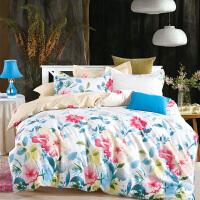 当当优品家纺 纯棉斜纹印花床品 双人床单四件套 如梦柔情