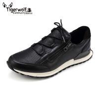 Tigerwolf虎狼公社 真皮秋冬工装鞋板鞋男皮鞋运动休闲鞋低帮潮流