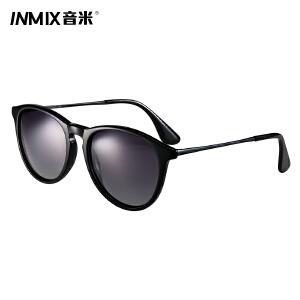 inmix音米新款女士个性太阳镜 时尚复古墨镜 偏光专用司机镜1354