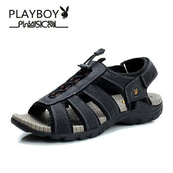 花花公子男凉鞋2015夏季新男式凉拖防滑牛皮沙滩鞋男士溯溪鞋PTCX37550