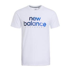 New Balance/NB 2017夏季新款男子运动休闲针织透气短袖T恤 AMT71611WT
