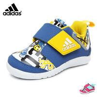 阿迪达斯adidas童鞋17婴童训练鞋趣味卡通儿童运动鞋宝宝学步鞋 蓝/白/黄(0-4岁可选)  CG3127 CG3128