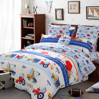 多喜爱16新品纯棉四件套卡通床品儿童全棉套件床上用品卡布工程师