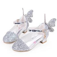 咭乐熊秋季女童皮鞋2017新款公主鞋韩版儿童高跟鞋女孩水晶单鞋冰雪奇缘