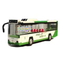 CAIPO儿童新款城市巴士北京103路合金车模真人发音模型公共汽车玩具 103路公交车蓝色 103路公交车橘色 103路公交车绿色 压前轮胎有声光 103路公交车 长23厘米可开门带真人语音 合金车身