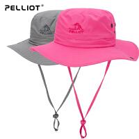法国PELLIOT/伯希和  户外防晒帽 夏季渔夫帽 男女折叠遮阳帽太阳帽旅游帽子