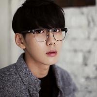新款韩版复古眼镜金属半框眼镜框2919 潮男女铆钉眼镜架时尚眼镜