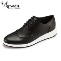 Tigerwolf虎狼公社 布洛克男皮鞋真皮商务休闲男士潮鞋复古英伦风