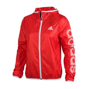 Adidas阿迪达斯 2017夏季新款女子运动休闲连帽夹克外套 BK5088/BK5099