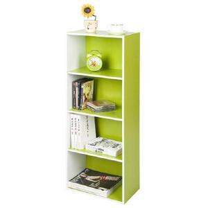 [当当自营]慧乐家 L40四层收纳柜120551 绿色白色 储物柜子 书柜书架 优品优质