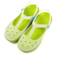 AICCO 青春潮流舒适休闲女凉鞋洞洞鞋玛丽珍 夏季凉拖鞋 软底变色多彩果冻鞋GD63