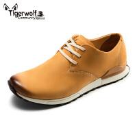 Tigerwolf虎狼公社 男士日常休闲鞋单鞋头层真皮皮鞋时尚透气男鞋
