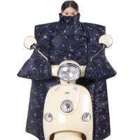 冬季厚防寒保暖电动车挡风被   防水防晒遮阳罩电瓶摩托车护膝