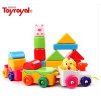 Toyroyal日本皇室玩具益智系列动物积木火车859带音乐和亮灯积木