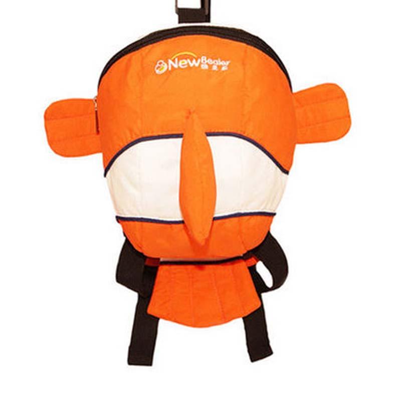 1-3岁男女童小孩卡通可爱双肩背包 儿童宝宝包包 幼儿园书包_小丑鱼