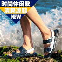 公牛世家 2017新款罗马鞋凉鞋男两穿拖鞋户外防滑沙滩鞋男士休闲两用露趾凉皮鞋888399