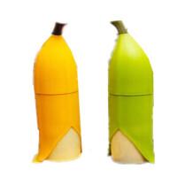 香蕉杯个性创意学生便携情侣可爱水杯 密封塑料随手杯子水瓶