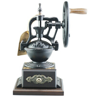 台湾原装进口BE8701-1小铁轮手摇磨豆机 咖啡研磨机 磨咖啡豆机器