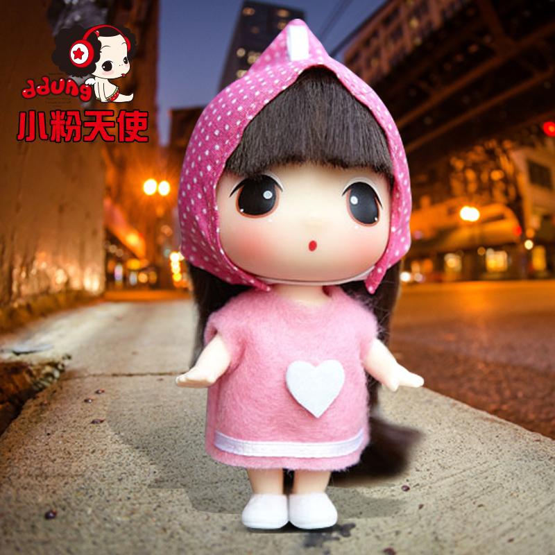 ddung/冬己韩国迷糊娃娃 9cm卡通可爱儿童玩具迷你小芭比娃娃_小粉