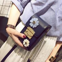 代代花枳明星同款手机包包女2017新款潮流链条小方包个性时尚迷你斜挎包小