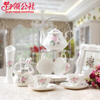 白领公社 杯子套装 创意家用水具咖啡杯具套装欧式陶瓷水杯茶杯礼品下午茶咖啡杯子水壶套装茶具家居日用品