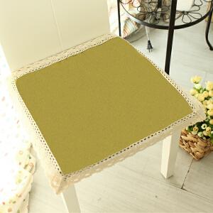 乐唯仕2条装椅垫夏季凉垫坐垫布艺棉麻餐椅垫学生电脑座垫防滑薄