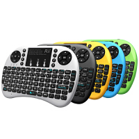 Rii i8+蓝牙小键盘 无线键盘迷你鼠标数字键盘USB充电手机便携笔记本电脑 巧克力数字背光充电ipad苹果平板