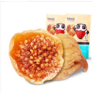 熊猫果缘_无花果干180gX2好吃包邮   新疆地道树上的糖包子