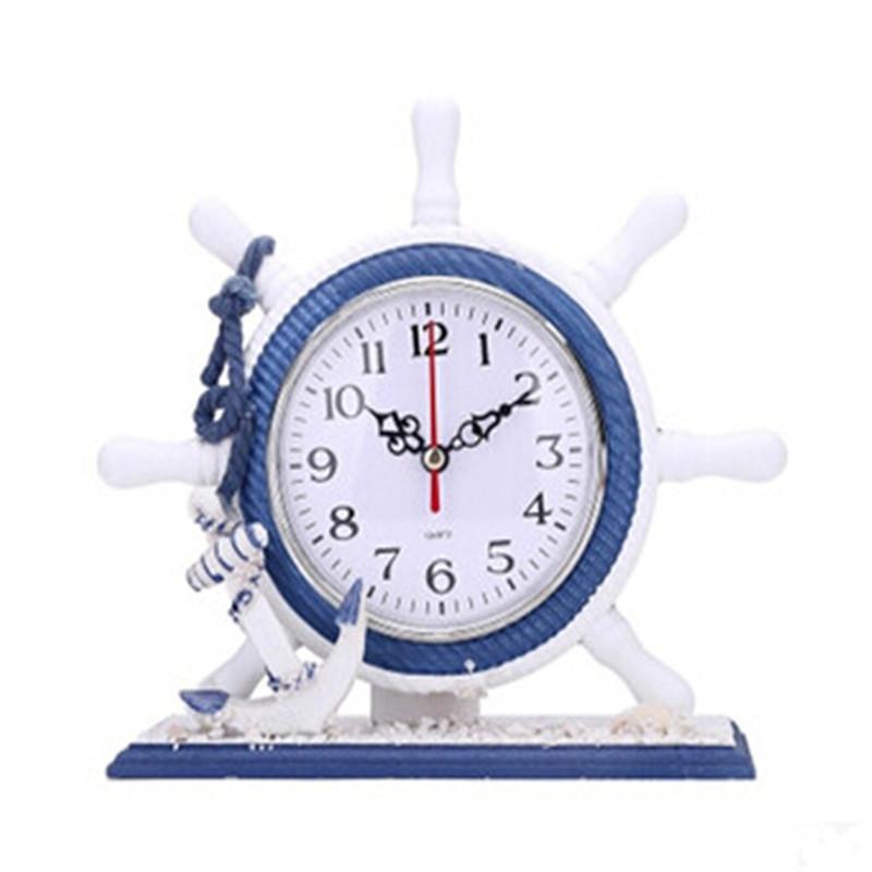 地中海风格/海洋系列/原木风情座钟/时钟/家居摆件 创意钟 摆件表