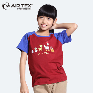AIRTEX/亚特 小鸡印花圆领短袖运动速干T恤童款 英国时尚户外