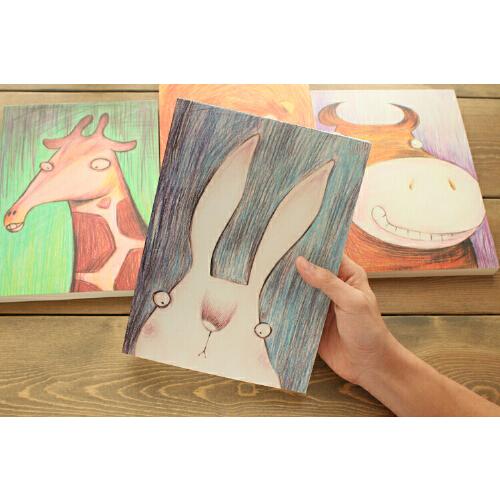 动物彩色速写本彩绘本呆萌物素描画画本
