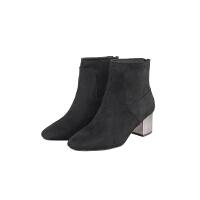 2017外贸原单 女式短靴 高跟时尚短靴