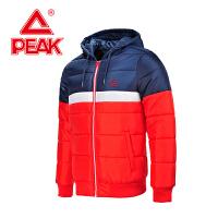 匹克男子棉衣 冬季新款保暖防风休闲个性连帽外套F564201