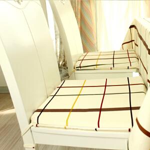 乐唯仕2条装椅垫坐垫纯棉布艺夏凉学生椅子垫办公室电脑沙发厚靠