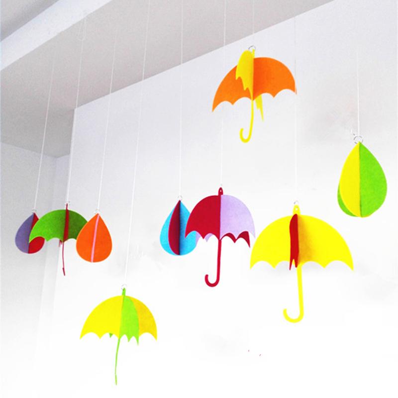 无纺布彩色树叶条挂饰 挂饰吊饰 幼儿园教室环境布置装饰吊饰 走廊